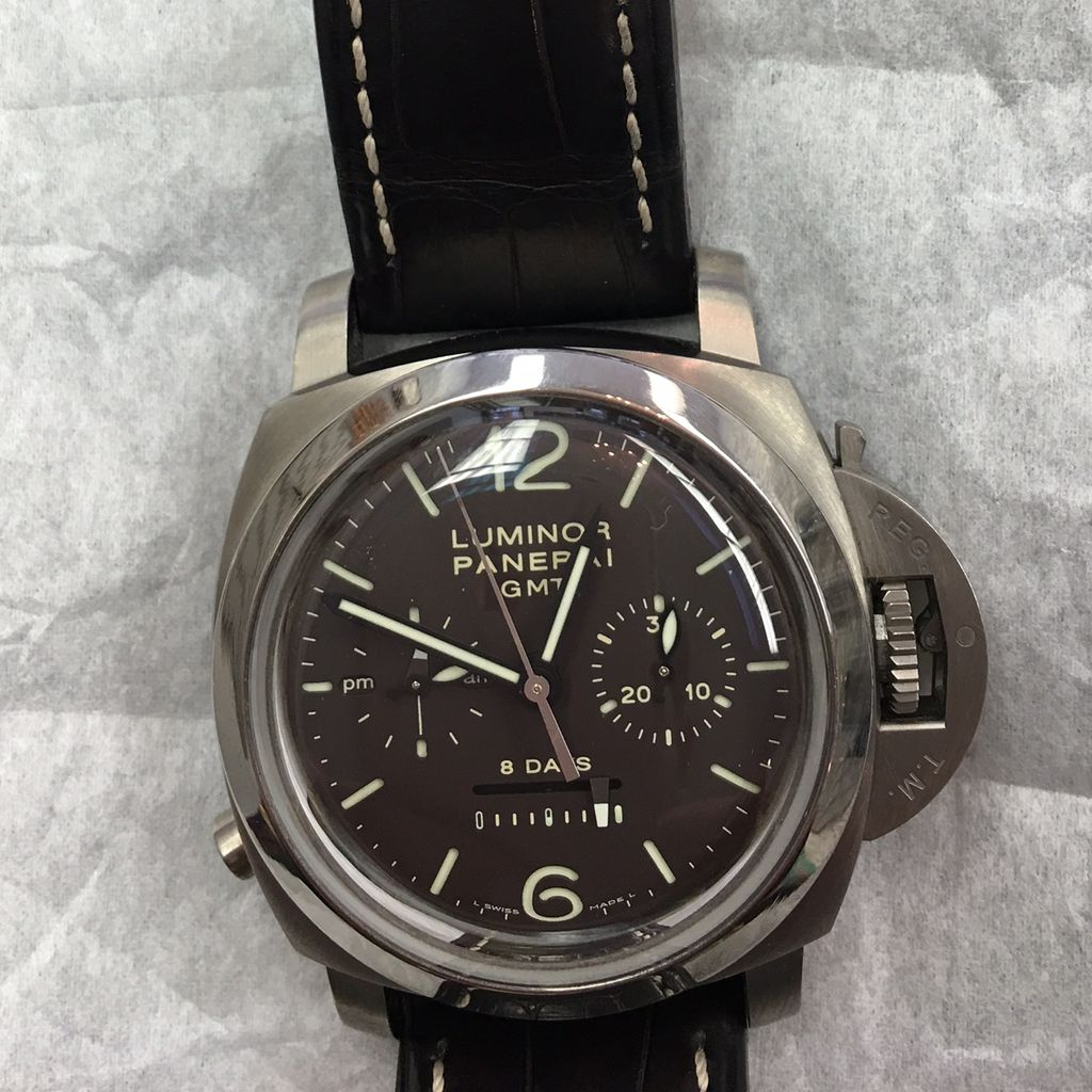 Panerai PAM 88 GMT with box papers near mint