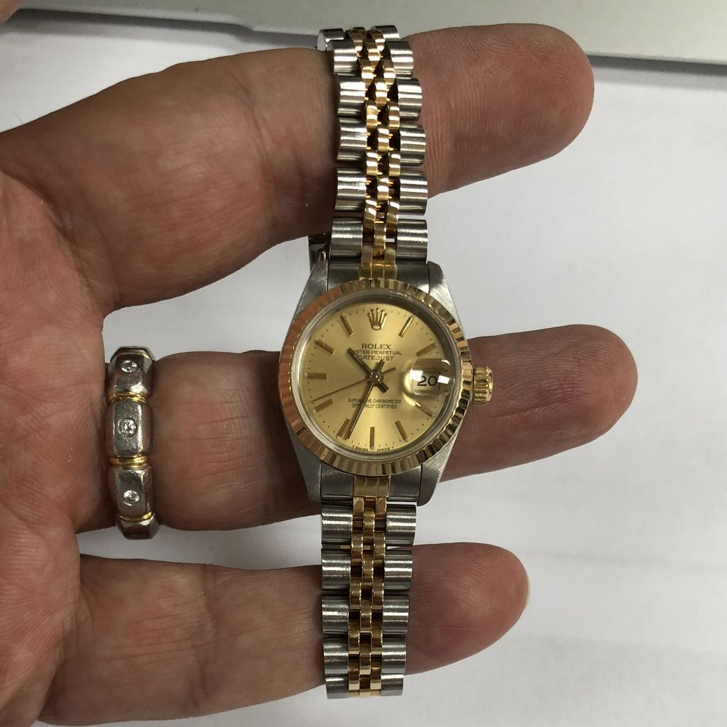 Rolex ladies two tone box papers 2750