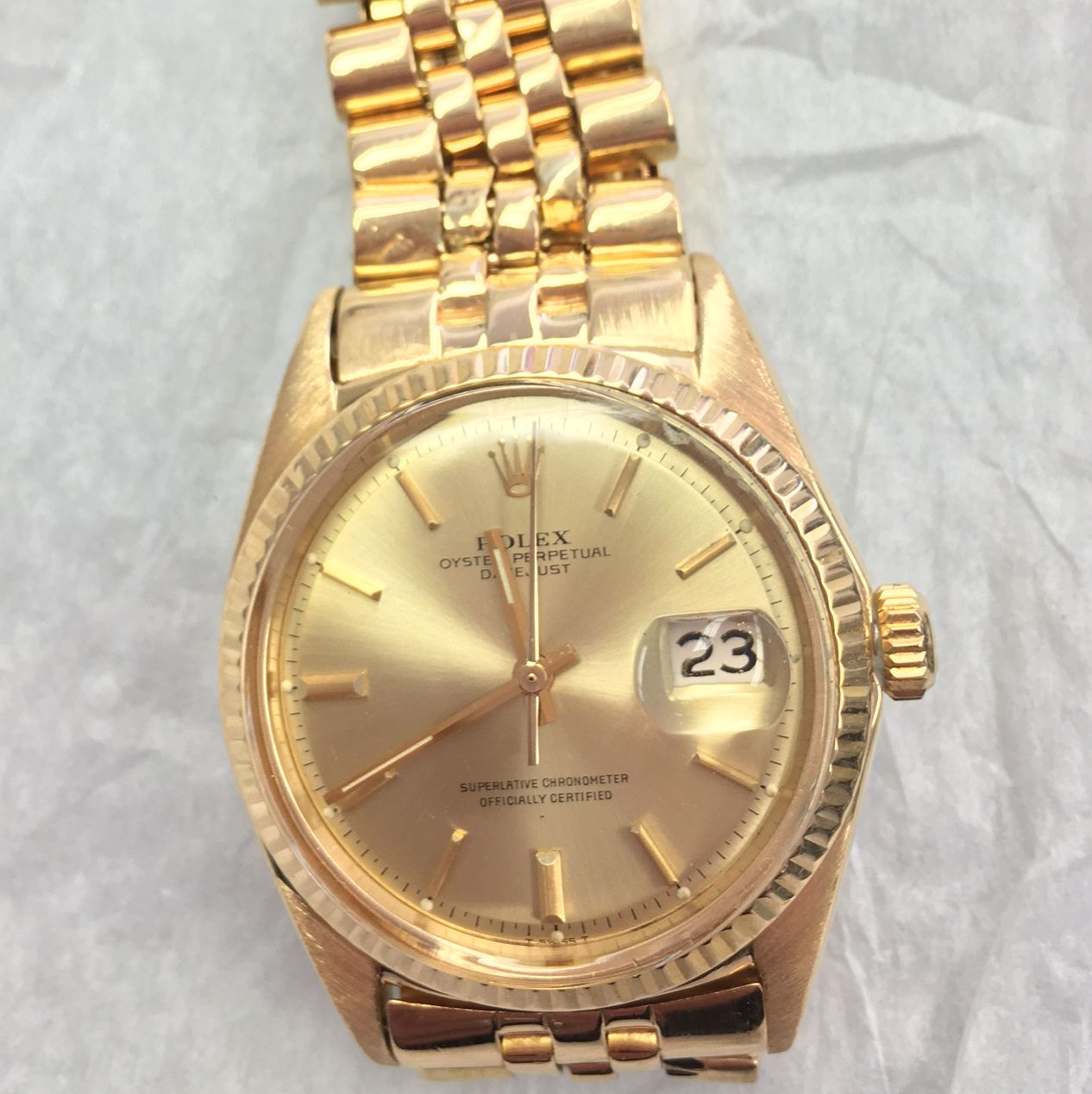 1965 solid gold Rolex