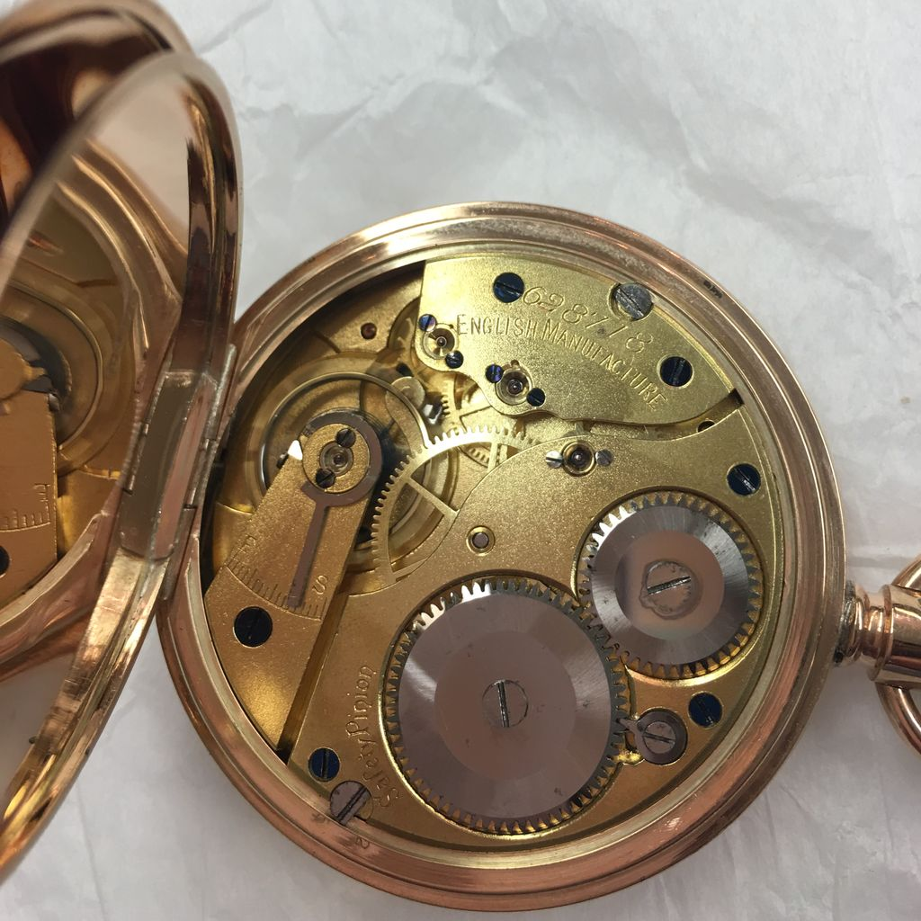 1910 Solid Gold Pocket Watch