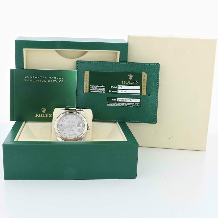 Rolex Datejust II 18kt White Gold Bezel