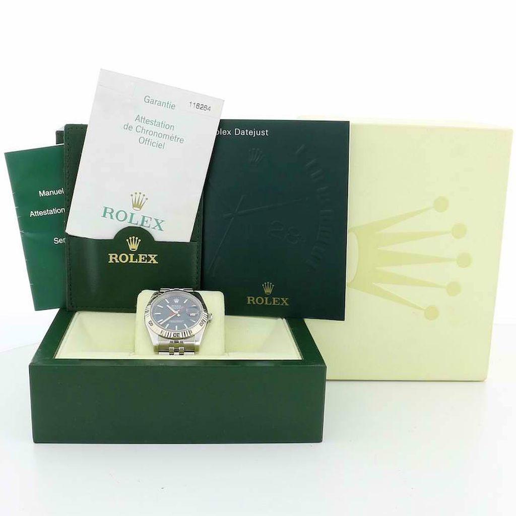 Rolex Datejust 18kt White Gold Bezel