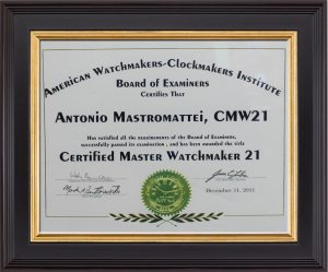 Certified Master Watchmaker