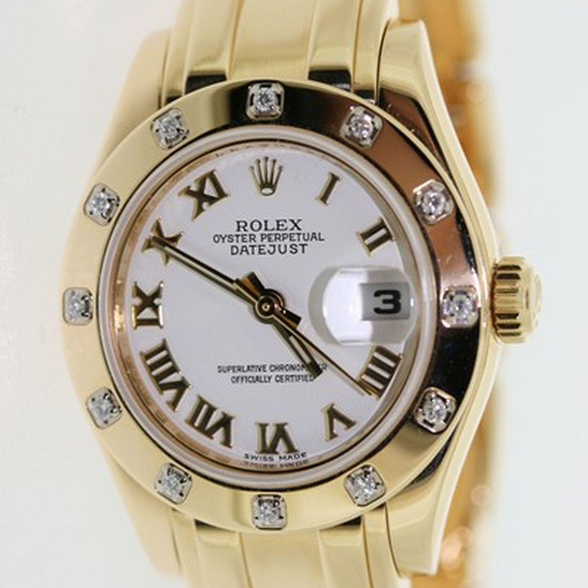 Lady-Datejust Pearlmaster Rolex Watch