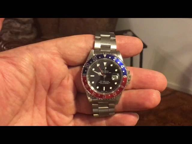 Stainless Steel GMT Rolex with a Pepsi Bezel