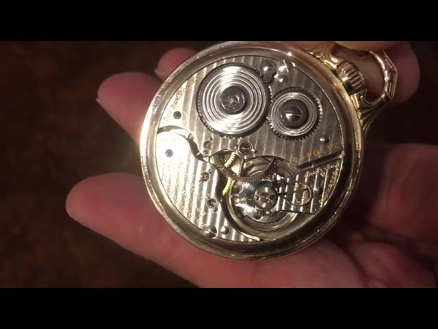 Hamilton Pocket Watch fully restored to near mint condition!